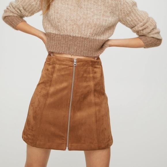 NEW Aritzia Wilfred Free New Zip-Up Mini Skirt